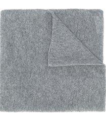 allude fine knit scarf - grey