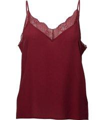malvia singlet ao18 blouse mouwloos rood gestuz