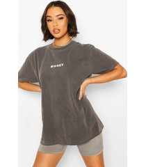 gebleekt honey t-shirt, grijs