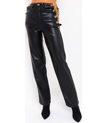akira gold all in my chain pant with chain trim