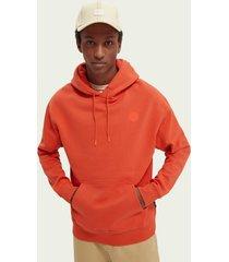 scotch & soda graphic detail cotton-blend hoodie