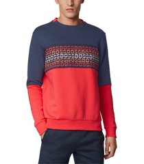 boss men's salbo iconic cotton-blend sweatshirt