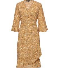 dress jurk knielengte geel ilse jacobsen