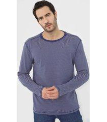 camiseta dupla face reserva padronagem azul-marinho - azul marinho - masculino - algodã£o - dafiti