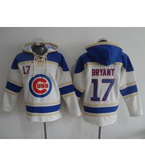 chicago cubs 17 kris bryant baseball hooded sweatshirt jersey