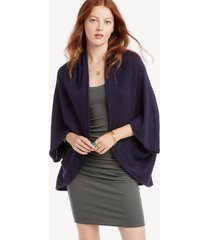 women's waffle knit cocoon wrap kimono navy one size from sole society