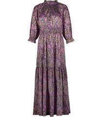 marbelle smocked waist printed cotton dress