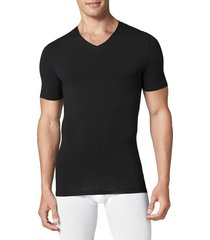 men's tommy john cool cotton high v-neck undershirt, size small - black