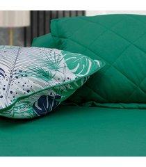 conjunto de lenã§ol casal pertutty algodã£o de alta qualidade - verde - dafiti