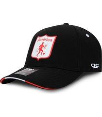 gorra américa de cali oficial oc caps clásica negra