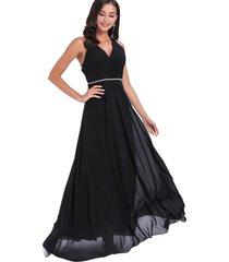 vestido fiesta detalle negro nicopoly