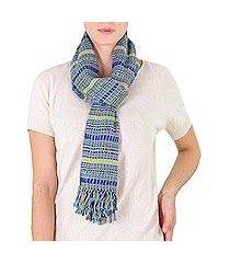 cotton scarf, 'atitlan sunshine' (guatemala)
