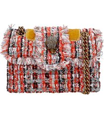 kurt geiger mini kensington shoulder bag in orange synthetic fibers
