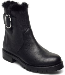 piper biker-gr shoes boots ankle boots ankle boot - flat svart hugo