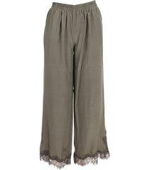 gold hawk coco silk trousers
