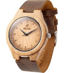 reloj madera bambu natural nerfis