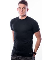 ten cate men basic t-shirt round neck black two pack (30868)