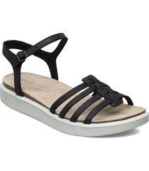 corksphere sandal shoes summer shoes flat sandals svart ecco