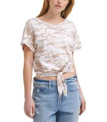 calvin klein jeans camo-print t-shirt