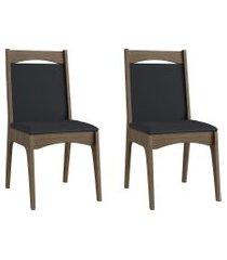 conjunto de cadeiras móveis canção 917 estofada 2 pçs fosco
