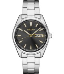 seiko men's essential stainless steel bracelet watch 40.2mm