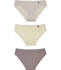 kit infantil calcinhas de algodão miss delrio 51354