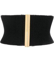 marni ribbed corset belt - black