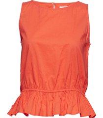 2nd pisces blus ärmlös orange 2ndday