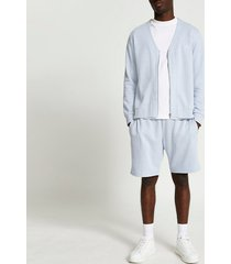 river island mens blue ri slim fit sweatshirt and shorts set