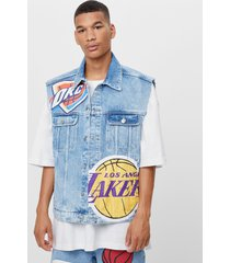 nba denim bodywarmer