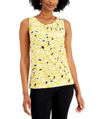 kasper petite printed sleeveless top