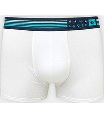 cueca boxer hang loose modal elástico bordado listras - masculino