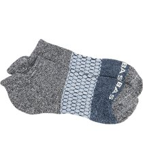 men's bombas colorblock ankle socks, size large - grey