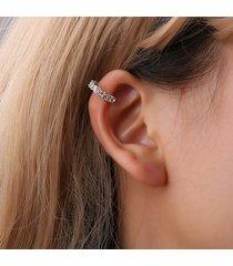 orecchini a clip orecchio dolce argento oro aperto rotondo orecchini strass geometrici gioielli carino per le donne