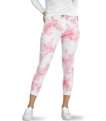 hue women's mod modern high rise tie-dye skimmer denim legging