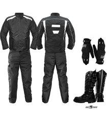 dotacion moto chaqueta moto guantes pantalon botas moto