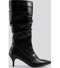trendyol slouchy high boots - black