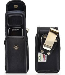 turtleback vertical samsung rugby 4 flip phone pouch holster case, snap closure