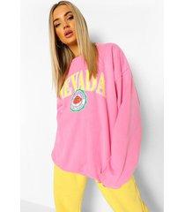 oversized overdye nevada sweater, bright pink