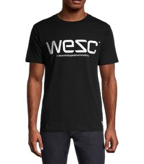 wesc men's reflective regular-fit t-shirt - black - size m