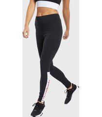 calza reebok te linear logo legging negro - calce ajustado