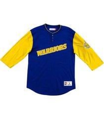 mitchell & ness golden state warriors men's franchise player henley shirt