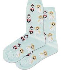 hot sox women's bridal dogs crew socks