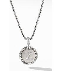 women's david yurman initial charm necklace with diamonds