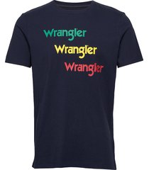 ss repeat tee t-shirts short-sleeved blå wrangler