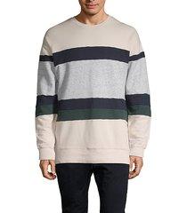 colorblock cotton sweatshirt