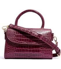 like dreams croc-embossed vegan leather top handle mini satchel