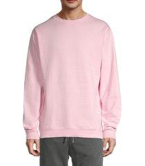 kinetix men's cotton sweatshirt - peach pink - size l
