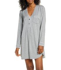 women's ugg henning henley sleep shirt, size x-small - metallic