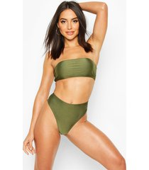 mix & match bandeau bikini top, khaki